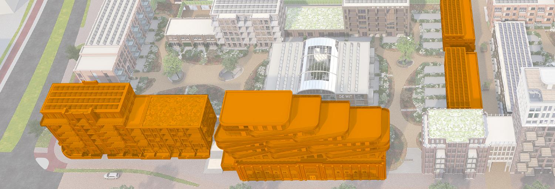 Eerste appartementen en woningen Oranjekade in verkoop